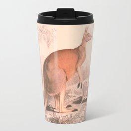 Vintage Kangaroo Family Illustration (1849) Travel Mug