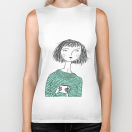 Coffee and Sweaters Biker Tank