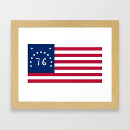 American Bennington flag - Authentic scale and color Framed Art Print