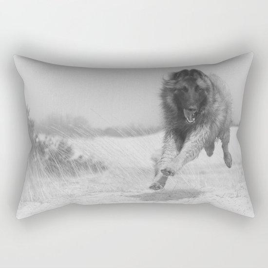Happy dog Rectangular Pillow