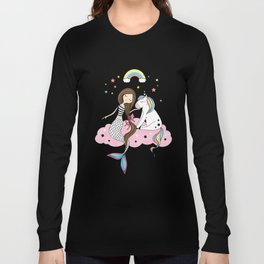 Mermaid & Unicorn Long Sleeve T-shirt