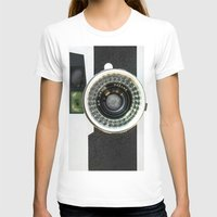 vintage camera T-shirts featuring Vintage camera by cafelab