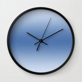Pastel Blue to Blue Horizontal Bilinear Gradient Wall Clock