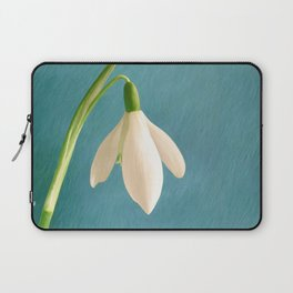 Single Snowdrop Laptop Sleeve