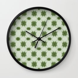 Pine Fronds Wall Clock