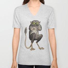 Tarsier Monkey Unisex V-Neck
