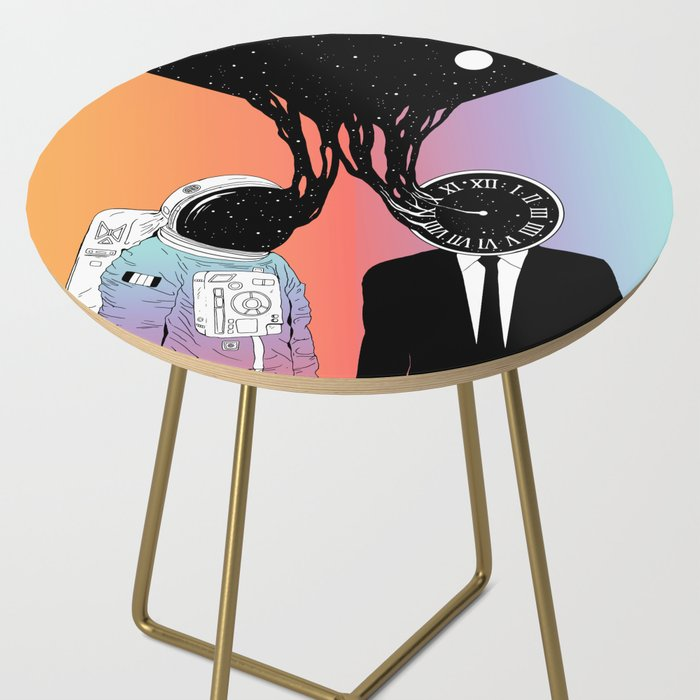 A Portrait of Space and Time ( A Study of Existence) Side Table
