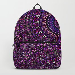 Pretty Particle Pattern Mandala Backpack