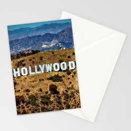 Hollywood Sign, Los Angeles, California, mountains, Griffith Park , USA, Cities, Skyline Stationery Cards