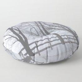 Snowy Haze Floor Pillow