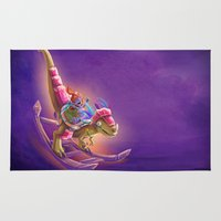 warcraft Area & Throw Rugs featuring Raptor Swing - Warcraft by Heartmedia