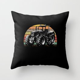 Tractor Vintage Driver Farmer Throw Pillow