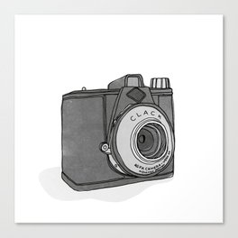 Vintage Analog Camera - Agfa Clack (B&W Edition) Canvas Print