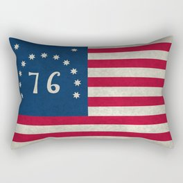 1776 Bennington flag - Vintage Stone Textured Rectangular Pillow