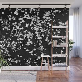 Black Night Glitter Stars #1 #shiny #decor #art #society6 Wall Mural