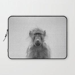 Baboon - Black & White Laptop Sleeve