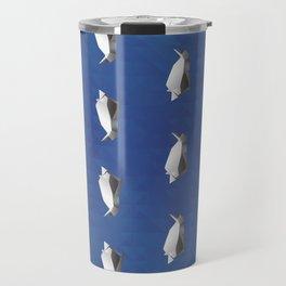 Paper origami Penguin Travel Mug
