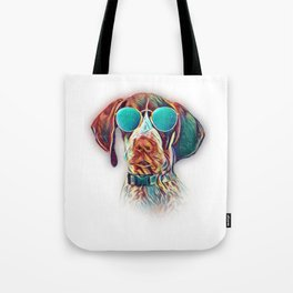 German Shorthaired Pointer Colorful Neon Dog Sunglasses Tote Bag