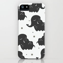 Black Elehants iPhone Case