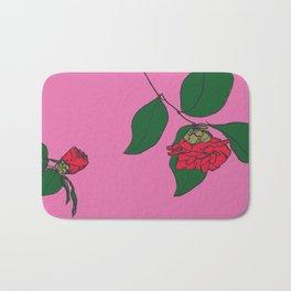 Red Camellia Bath Mat