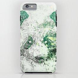 Green Panda Bear iPhone Case
