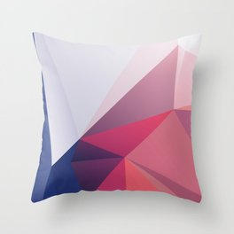 Hugo – modern polygram illustration, wall art print Throw Pillow