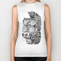 hipster Biker Tanks featuring hipster by Jess John