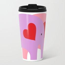 Purple and Pink Elephant Love Travel Mug