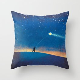 Stars Kite Throw Pillow