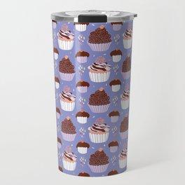 Baked Cupcakes Food Vector Pattern Travel Mug