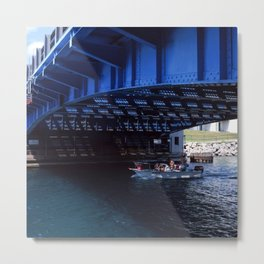 Under the Charlevoix Bridge Metal Print