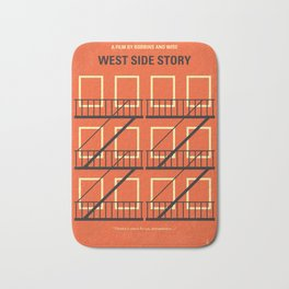 No387 My West Side Story minimal movie poster Bath Mat