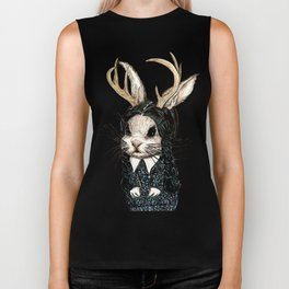 Wednesday Jackalope Biker Tank