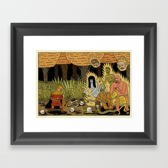 The Woodland Ghosts Framed Art Print