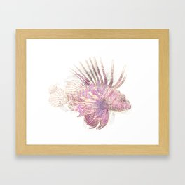 Lets draw a Lionfish Framed Art Print
