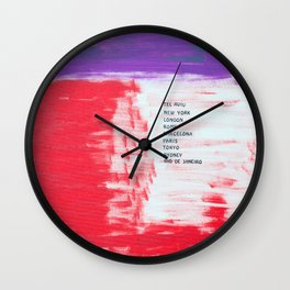 All over the world. Wall art quotes. Wall Clock