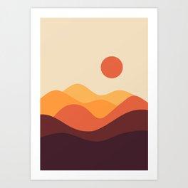 Geometric Landscape 21 Art Print