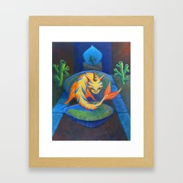 The Cat Fish from Spain Framed Art Print