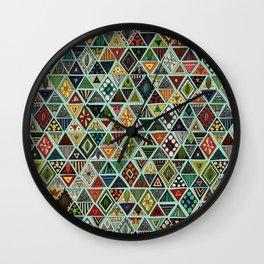 sun bear geo mint Wall Clock