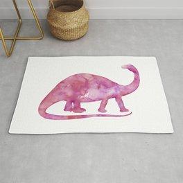 Pink Brontosaurus Watercolor Painting Rug