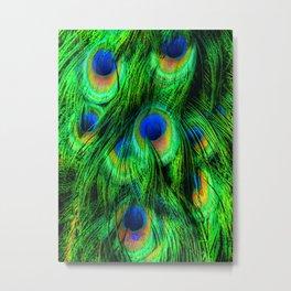 Peacock or Flower 2 Metal Print