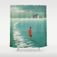cities Shower Curtains featuring Waiting For The Cities To Fade Out by Frank Moth