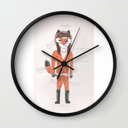 Kitty Grace's Fox costume Wall Clock
