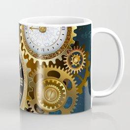 Two Steampunk Clocks with Gears Coffee Mug