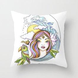Island Girl Throw Pillow