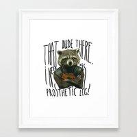 rocket raccoon Framed Art Prints featuring My Rocket Raccoon by pedalja