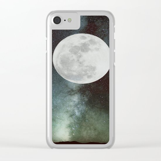 Moon phases Clear iPhone Case