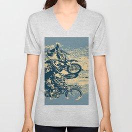 Dirt Track - Motocross Racing Unisex V-Neck