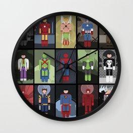 15 Superheroes Wall Clock