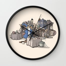 Collection of Curiosities Wall Clock